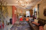 Camium Scarlet Living Room